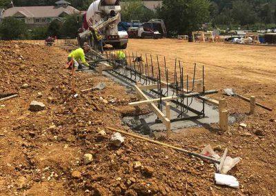 Concrete Footing Pour - Area E