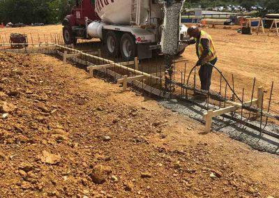 Concrete Footing Pour2 - Area E